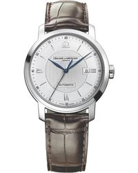 Baume & Mercier - Classima 8731 Stainless Steel & Alligator Strap Watch - Lyst