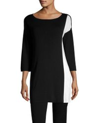 Eileen Fisher - Long Colorblock Top - Lyst