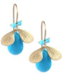 Annette Ferdinandsen - Fauna Turquoise & 14k Yellow Gold Earrings - Lyst