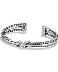 David Yurman - X Crossover Bracelet With Diamonds - Lyst