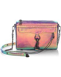Rebecca Minkoff - Mini Mac Hologram Crossbody Bag - Lyst