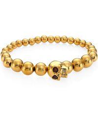 Alexander McQueen - Brass Skull Ball Bracelet - Lyst