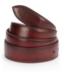 Corthay - Lie De Vin Patina Leather Belt - Lyst