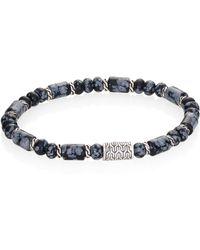 John Hardy - Batu Obsidian & Sterling Silver Classic Chain Beaded Bracelet - Lyst