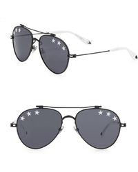 Givenchy - Stars 58mm Reflective Aviator Sunglasses - Lyst