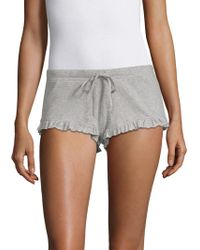 Skin - Ribbed Cotton Shorts - Lyst