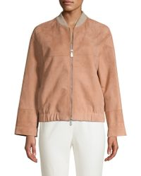 Peserico - Suede Topper Coat - Lyst
