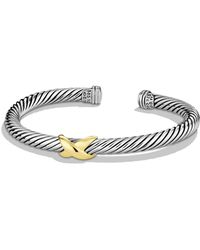 David Yurman - X Bracelet With Gold - Lyst