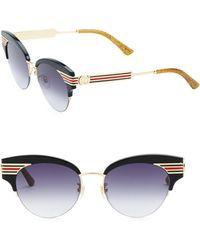 Gucci - 53mm Cat Eye Sunglasses - Lyst