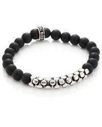 King Baby Studio - Onyx & Sterling Snake Link Bracelet - Lyst