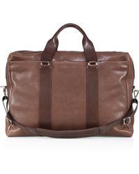 Brunello Cucinelli - Leather Travel Bag - Lyst