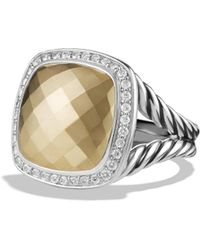David Yurman Albion Ring With Diamonds In Sterling Silver - Metallic