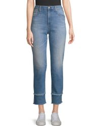AG Jeans - Isabelle Straight-leg Crop Jeans - Lyst