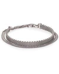 Title Of Work | Sterling Silver Mesh & Chain Bracelet | Lyst