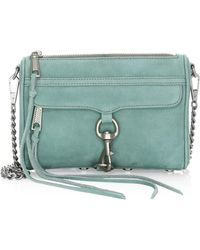 Rebecca Minkoff - Mini Mac Nubuck Crossbody - Lyst