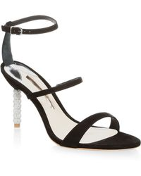 Sophia Webster | Rosalind Crystal-heel Suede Sandals | Lyst