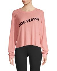 Wildfox - Dog Person Monte Crop Sweatshirt - Lyst