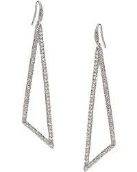 ABS By Allen Schwartz - Gold-tone Teal Wire-wrapped Teardrop Earrings - Lyst