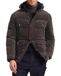 Brunello Cucinelli - Cord Hooded Down Cashmere Puffer Jacket - Lyst