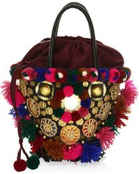 Figue - Frida Mini Tuk Tuk Embellished Top Handle Bag - Lyst
