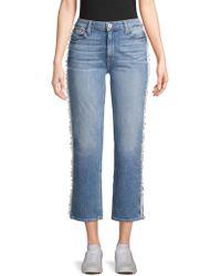 PAIGE - Noella Straight Leg Jeans - Lyst