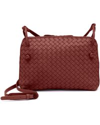 938107beb1 Bottega Veneta - Pillow Intrecciato Leather Crossbody Bag - Lyst