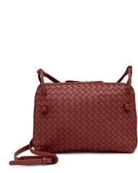 501fddf9541f Bottega Veneta Women s Small Pillow Intrecciato Leather Crossbody ...