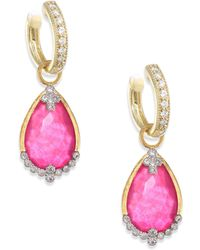 Jude Frances - Provence Champagne Diamond & Rhodalite Earring Charms - Lyst