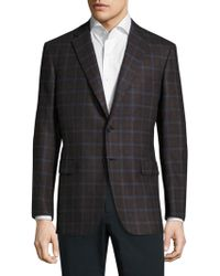 Brioni - Printed Textured Wool Sportcoat - Lyst