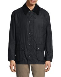 Barbour - Ashby Waxed Corduroy-trim Jacket - Lyst