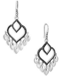 John Hardy - Legends Naga Silver Chandelier Earrings - Lyst