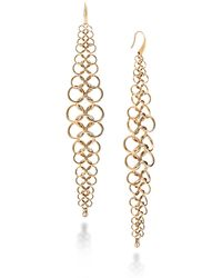 Michael Kors - Haute Hardware Oversized Chainmail Link Linear Drop Earrings - Lyst
