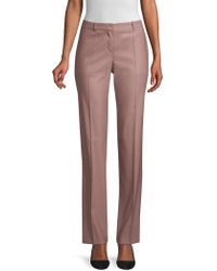 BOSS - Tamea12 Virgin Wool Trousers - Lyst
