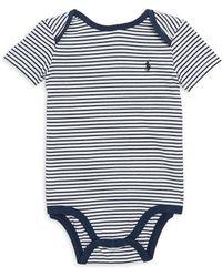 Ralph Lauren - Baby Boy's Striped Cotton One-piece - Lyst