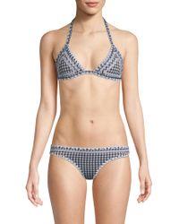 Same Swim - The Catch Gingham Bikini Top - Lyst