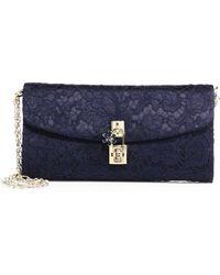 Dolce & Gabbana - Lace Pouchette Chain Clutch - Lyst