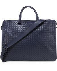 Bottega Veneta - Woven Leather Briefcase - Lyst