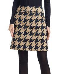 Akris Punto - Houndstooth Jacquard A-line Skirt - Lyst
