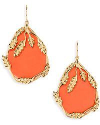 Aurelie Bidermann | Francoise Coral Drop Earrings | Lyst