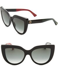 Gucci - 53mm Colorblocked Arm Cat Eye Sunglasses - Lyst