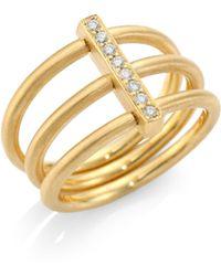 Carelle - Moderne Diamond & 18k Yellow Gold Trio Ring - Gold - Lyst