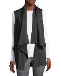 Beyond Yoga - Satisfaction Drape-front Vest - Lyst