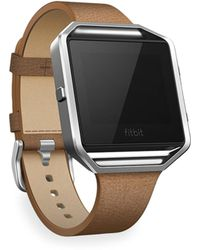 Fitbit - Luxe Leather Blaze Large Tapered Band & Frame - Lyst