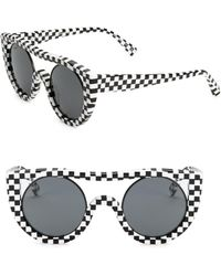 Oliver Peoples - Checkerboard Aviator Sunglasses - Lyst