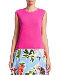 Carolina Herrera - Sleeveless Sweater - Lyst