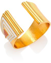 Stephanie Kantis - Sculpted Rose Quartz & Enamel Cuff Bracelet - Lyst