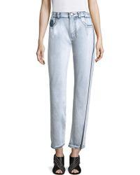 3.1 Phillip Lim - High-rise Zip Detail Straight-leg Jeans - Lyst