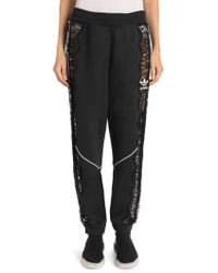Stella McCartney - By Adidas Lace Insert Cotton Joggers - Lyst
