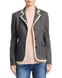 Rag & Bone - Uni Contrast Piping Wool Blazer - Lyst