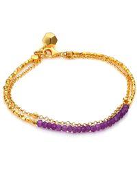 Astley Clarke - Biography Amethyst Beaded Friendship Bracelet - Lyst
